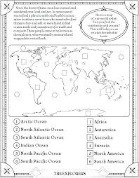 Geography Continents And Oceans Worksheets Grade 5 Caps Find The ...