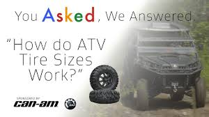 Quad Tire Size Chart How Do Atv Tire Sizes Work