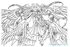 Anime Coloring Pages For Girls Hashclub
