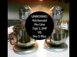 kitchenaid 7 quart. unboxing: kitchenaid pro line 7 quart 1.3hp stand mixer in sugar pearl (compared to 5 plus) - youtube i