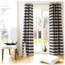 Black And White Striped Drapes