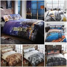 3pcs duvet set duvet cover bedding set new york city skyline american flag theme 1 of 12free see more