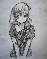 рисунки манга девушек карандашом