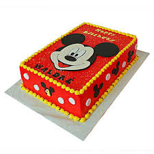 Red Mickey Mouse Cake 2kg Chocolate Gift Mickey Face Themed