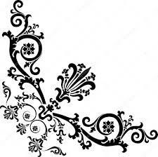Corner Design Black Corner Design With Curles Stock Vector Dr Pas 6261534