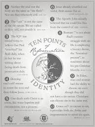 The 10 Points Of Reformation Regarding Identity Scpriture