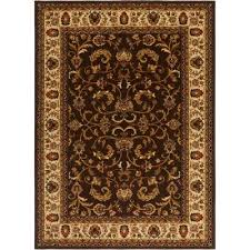 royalty brown ivory 5 ft x 7 ft indoor area rug