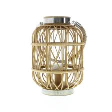 wood candle lantern small wove rustic decorative lanterns for