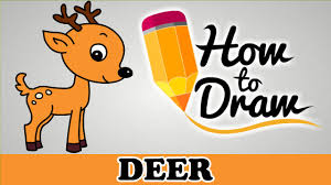 how to draw a deer easy step by step cartoon art drawing lesson tutorial for kids beginners you
