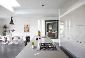 White Kitchen Modern Modern Kitchen Designs Which Use A White Background In The Entire