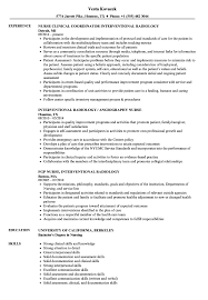 Interventional Radiology Nurse Resume Samples | Velvet Jobs
