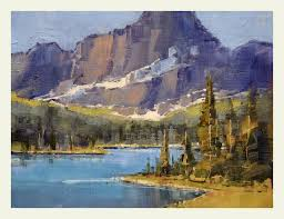 josephine lake glacier national park oil on panel 9x12 sold private collector