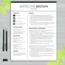Resume Templates For Teachers Enchanting Modern Teacher Resume Template Site About Template