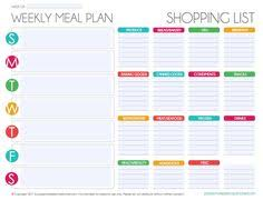 Free Weekly Meal Planner With Grocery List Free Meal Planner Food Tips Healthy Eating Pinterest Meal