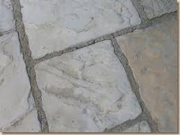 stone paving dry grouting