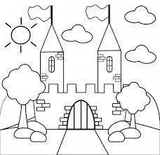 Preschool Coloring Page Castle Kidspressmagazinecom