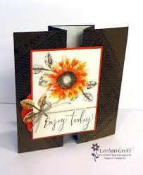 fold card painted harvest fun fold card flowerbug s inkspot