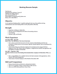 Back To Bank Cover Letter With No Experience Teller Resume