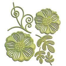 Paper Flower Cutting Tools Romantic Flower Cutting Dies S4 532 Metal Dies For Card Making