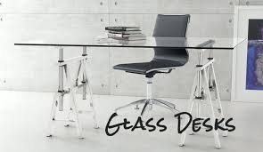 Modern glass office desk Tempered Glass Modern Glass Office Desk As You Can Imagine The Typical Glass Desk Is Decidedly Modern Or Modern Glass Office Desk Netgaleria Modern Glass Office Desk Office Metal And Glass Office Desk Top