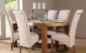 modern country furniture. Wood Dining Set With White Leather Chairs. Modern Country Furniture