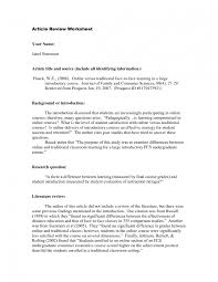 28 Images Of Article Review Outline Template Infovia Net How To
