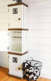 wooden crate storage lockers wooden crate decoration diy ideas