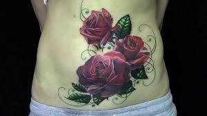 татуировка розы перекрытие шрама