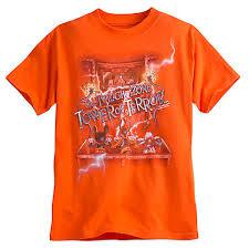 <b>Disney</b> Adult Shirt - Tower of Terror - Ride the Lightning <b>Trio</b> - Orange