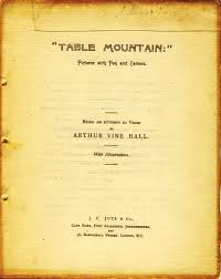 two victorian books celebrate the cape of good hope leaves from the title page of arthur vine hall s book