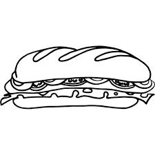 Disegno Di Sandwich Da Colorare Per Bambini