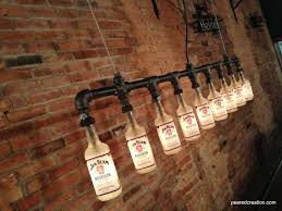 industrial lighting diy. industrial style bottle lamp jim beam chandelier steampunk fixture bar decor so cool i would not pay 700 dollars for lighting but if you owned a diy t