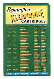 1930s Remington Kleanbore Ammunition Chart