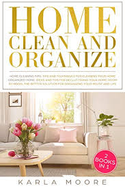 home clean and organize 2 books in 1