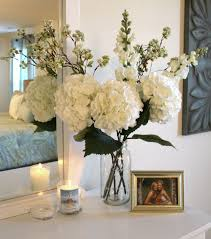 beautiful elegant dresser decor easy to make -hobby lobby boquet and jar  vase