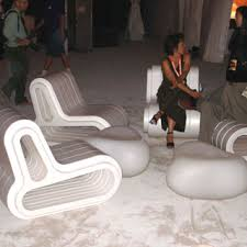 ultra modern furniture. Ultra Modern Furniture, Including Styrofoam Chairs And Low, Molded Plastic Tables Enabled Guests To Furniture
