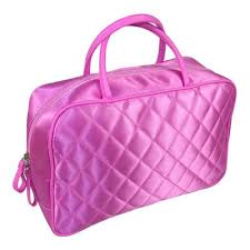 88 best Quilted Cosmetic Bag, Quilted Handbags and Totes images on ... & Cosmetic Handbags made of satin fabric with quilted and Look  fashion-forward at the same Adamdwight.com