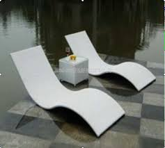 pool lounge chairs. China Metal Rattan Wicker Pool Lounge Chairs / Outdoor Sun Aluminium Frame Supplier N