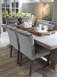 mix of velvet and tufted chairs for dining table