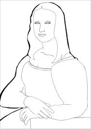 Mona Lisa Coloring Page Mona Lisaleonardo Da Vince Coloring Page
