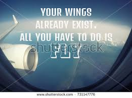 Airplane Quotes Fascinating Travel Quotes Your Wings Already Exist Stock Photo Edit Now