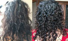 dry frizzy curly hair