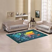 world map area rug 5 x3 3 s and rugs in