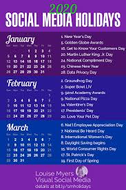 Chinese Calendar January 2020 101 Social Media Holidays You Need 2019 20 Indispensable