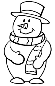 Small Picture Preschool Coloring Pages Winter Snowman And Kids Season Coloring