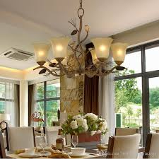 hotel lights american vintage imitation wooden chandelier lamp living room dining room retro resin glass chandelier led wood light fixtures hanging ceiling