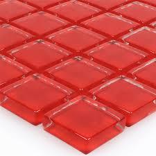 Mosaikfliesen Glas Rot Uni-TM33282m