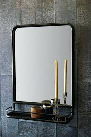 wall mirror black black wall mirror with shelf portrait from st with regard to small black black round metal wall mirror