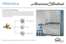 american standard t675 502 299 chrome polished brass colony tub and shower trim package with single function shower head and diverter tub spout faucet