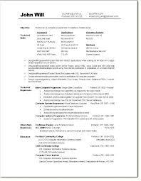 Computer Programmer Analyst Sample Resume Mwb Online Co